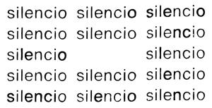 """""""Silencio"""", Eugen Gomringer 1954"""